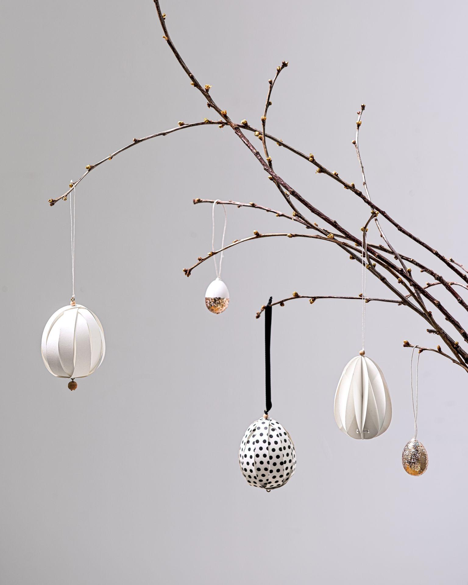 dekoračné vajíčka na vetvičke