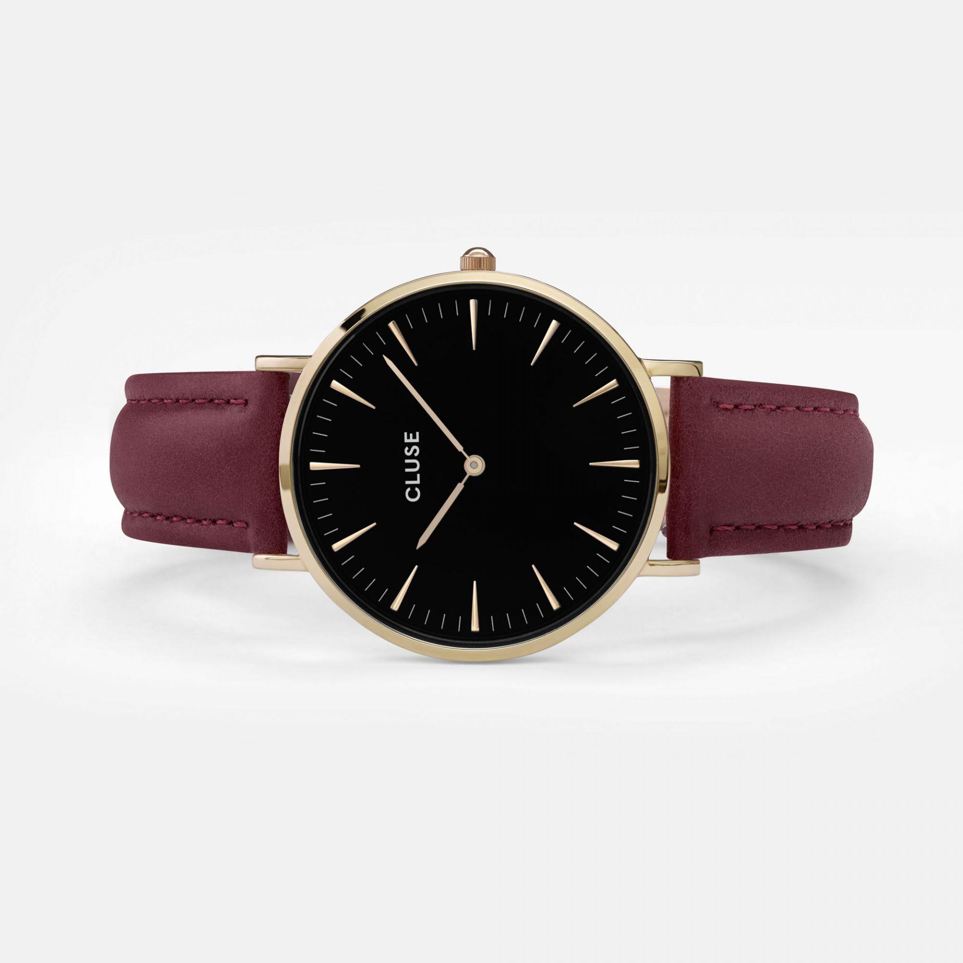 hodinky cluse la boh me gold black marsala bella rose. Black Bedroom Furniture Sets. Home Design Ideas