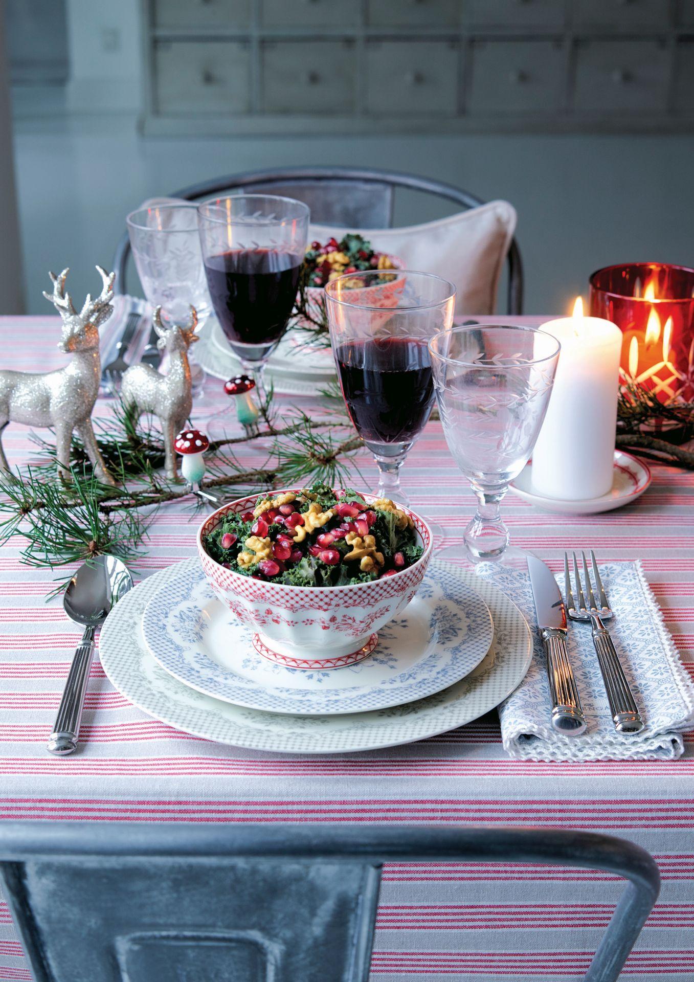 Sviatočný stôl.