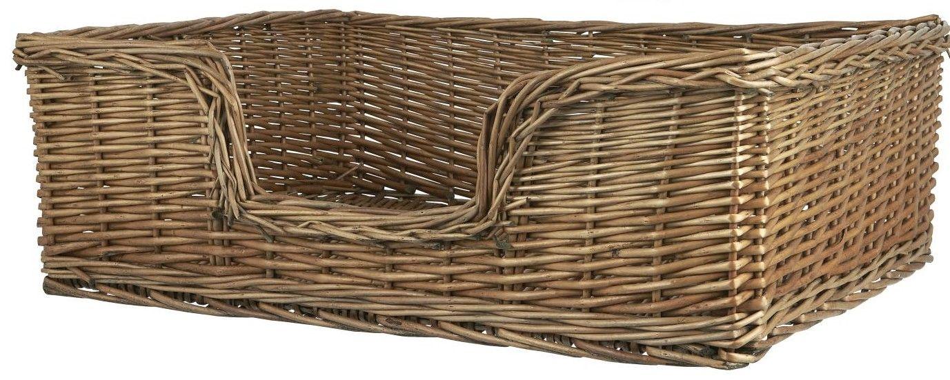 IB LAURSEN Proutěný koš pro psy Willow Větší, přírodní barva