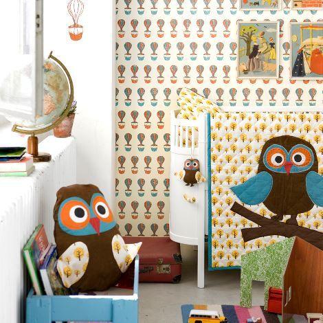 Textil pro dětské pokoje Owl