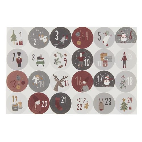 IB LAURSEN / Adventné samolepky s číslami Christmas Calendar