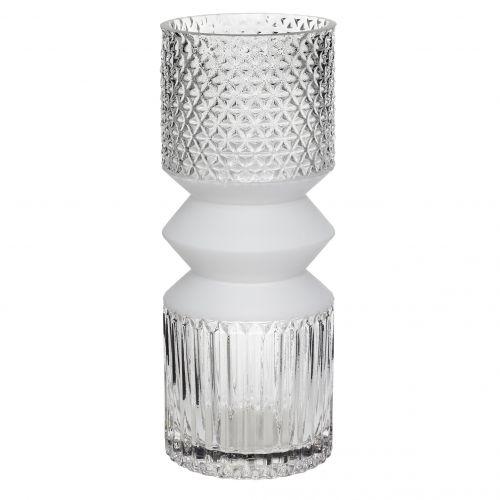 Hübsch / Sklenená váza Cubist Vase