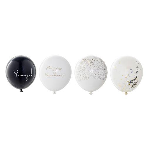 Bloomingville / Nafukovacie balóniky Happy New Year set 24 ks