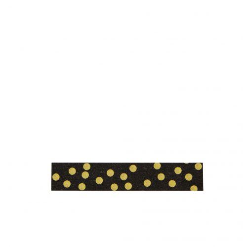 MADAM STOLTZ / Designová samolepící páska Black Gold dots