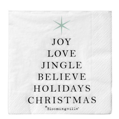 Bloomingville / Vianočné papierové obrúsky Joy Love