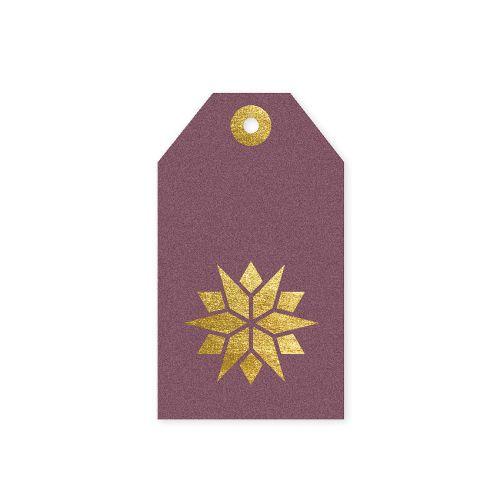 TAFELGUT / Vianočný štítok Star Berry 6x10,5 cm