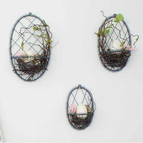 Krasilnikoff / Závesné drôtené vajíčko na dekorácie Grey
