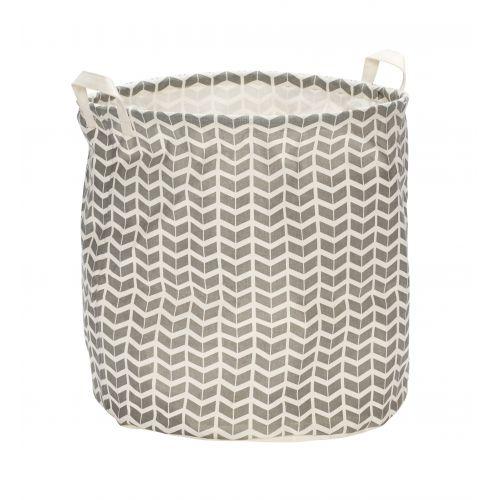 Hübsch / Textilní koš na prádlo Chevron Grey