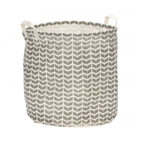 Hübsch / Textilný kôš na prádlo Chevron Grey