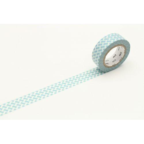 mt / Japonská papierová páska Net Check Blue