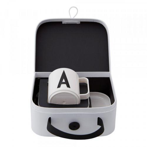 DESIGN LETTERS / Detská sada riadu v kufríku Suitcase For Kids