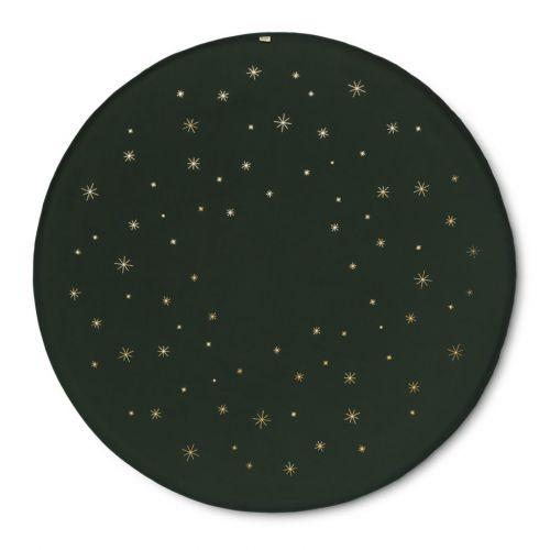 ferm LIVING / Podložka pod vianočný stromček Gold Star Ø 120 cm