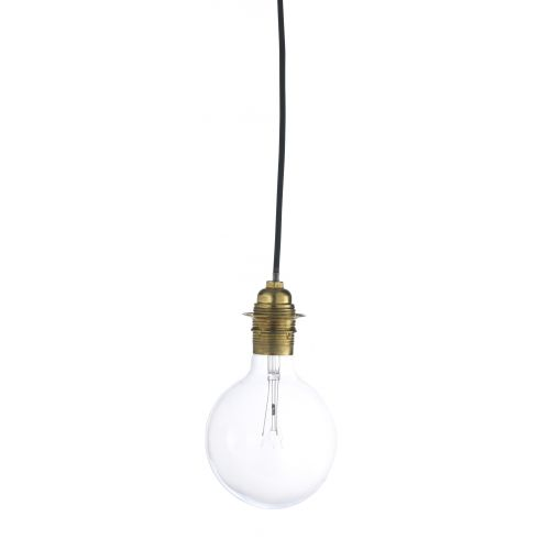 MADAM STOLTZ / Kábel s objímkou (E27) na žiarovku Brass