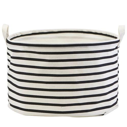 House Doctor / Textilný kôš Stripes 40 cm