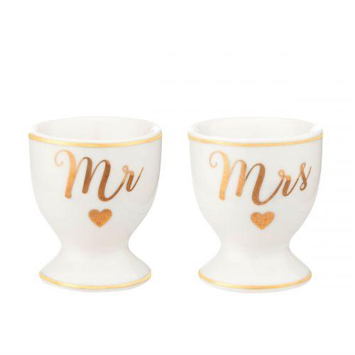 sass & belle / Porcelánové stojančeky na vajce Mr & Mrs