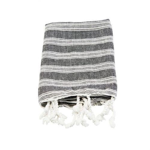 meraki / Bavlnený uterák Hammam Black 90 x 45 cm