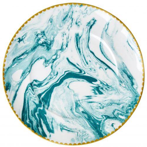 rice / Porcelánový tanier Marble Jade ⌀ 23 cm
