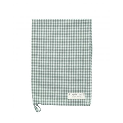 Krasilnikoff / Utierka Dusty Green Checkered 50x70cm