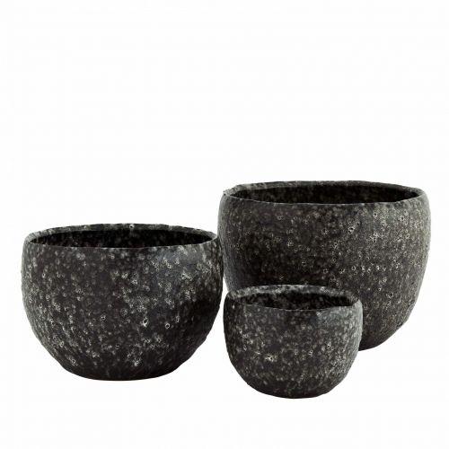 MADAM STOLTZ / Keramický obal na kvetináč Lava Stone