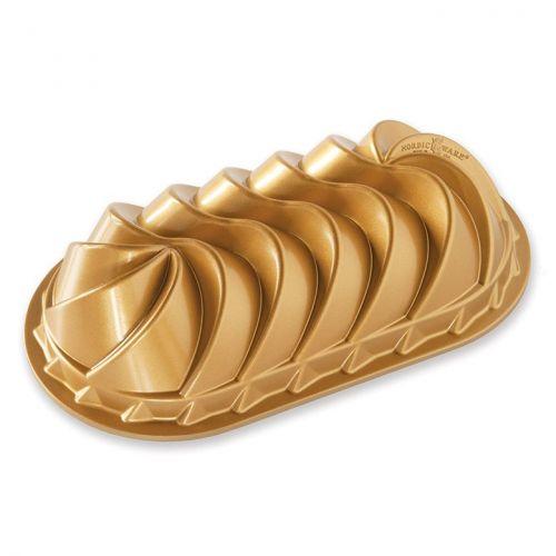 Nordic Ware / Hliníková forma na chlebíček Heritage Gold
