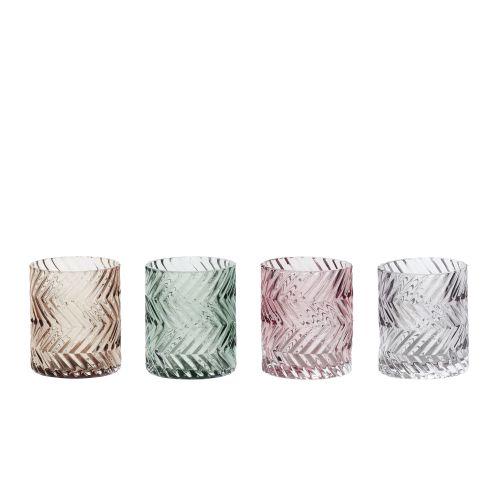 Hübsch / Skleněný svícen Glass