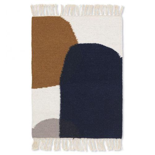 ferm LIVING / Vlnený koberec Kelim Mat Merge 50 x 70 cm