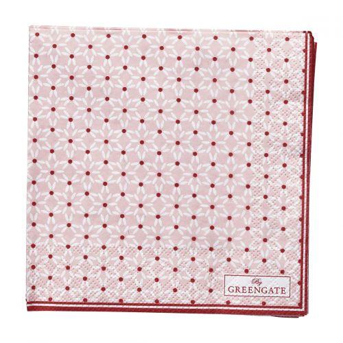 GREEN GATE / Papierové obrúsky Juno Pale Pink - malé