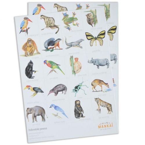 MANKAI Paper / Papierové pexeso Indian Animals