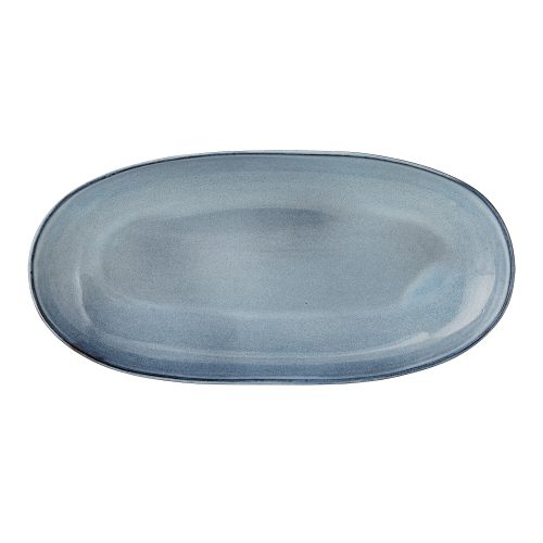 Bloomingville / Oválny servírovací tanier Sandrine Blue