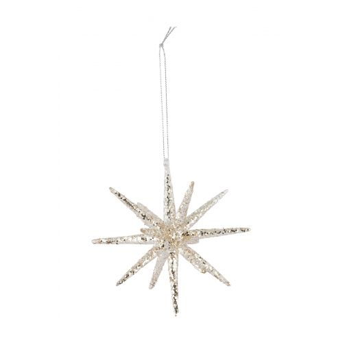 House Doctor / Ozdoba Spike silver glitter 12cm