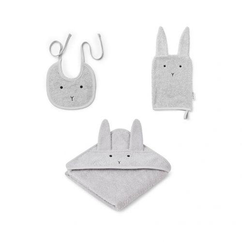 LIEWOOD / Detská sada Adele Rabbit Dumbo Grey