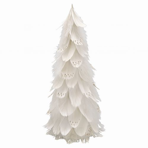 GREEN GATE / Dekoratívny strom z peria Off White Large