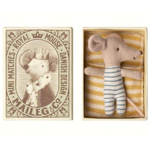Maileg / Myšie bábätko v krabičke Baby mouse