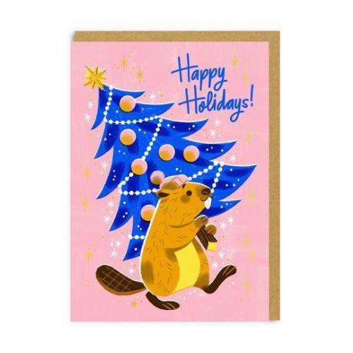 Ohh Deer / Vianočné prianie Happy Holidays Beaver