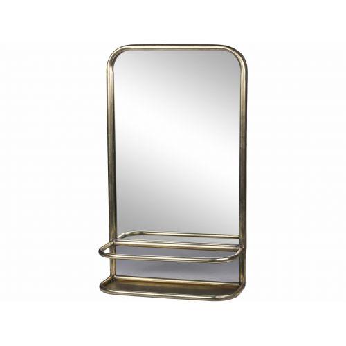 Chic Antique / Zrkadlo s poličkou Antique Brass