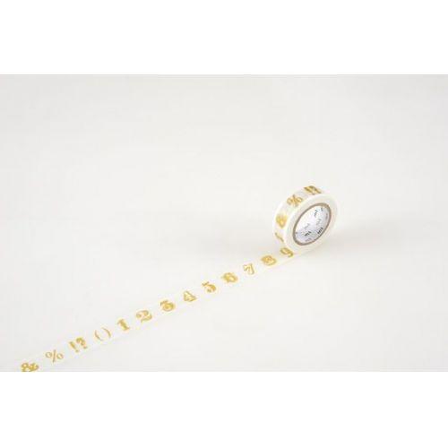 mt / Designová samolepiaca páska Number/symbol gold