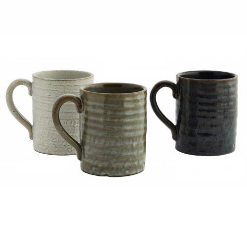 MADAM STOLTZ / Keramický hrnček Stoneware Cool Tones