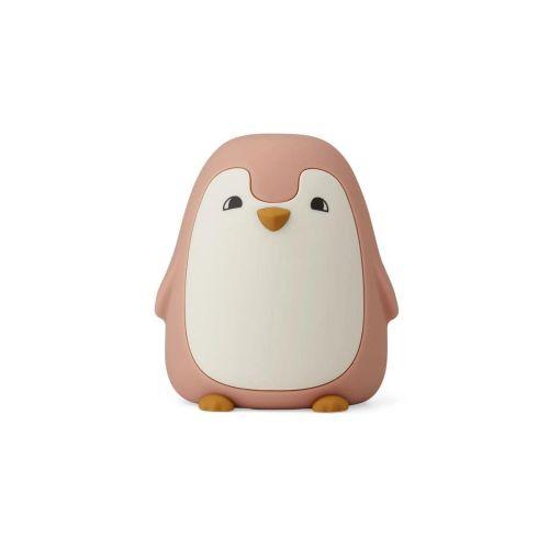 LIEWOOD / Detská nočná lampička Penguin Dark Rose