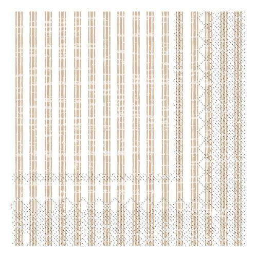 Chic Antique / Papierové servítky Stripes Linen 20 ks