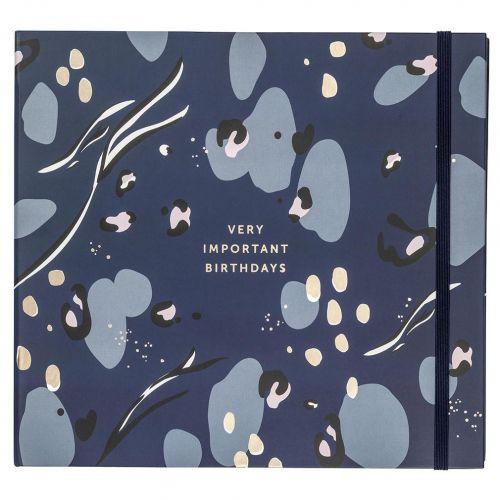 Busy B / Plánovač narodenín a výročí Card Book Navy