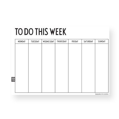 DESIGN LETTERS / Trhací týždenný plánovací kalendár To Do This Week