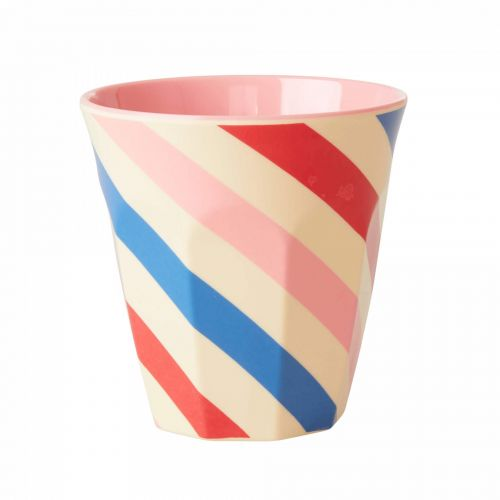rice / Melamínový hrnček Candy Stripes