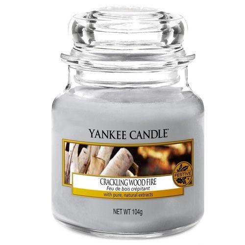Yankee Candle / Sviečka Yankee Candle 104gr - Crackling Wood Fire