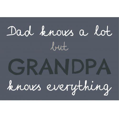 IB LAURSEN / Plechová ceduľa Dad knows a lot but Grandpa