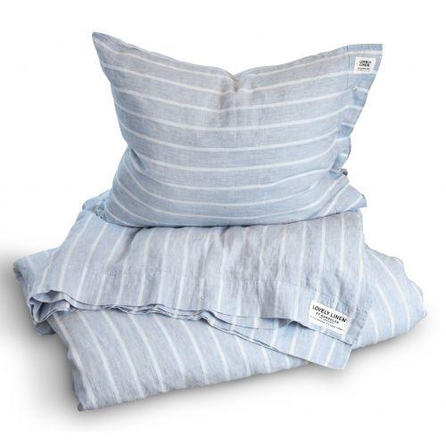 Lovely Linen / Prírodné ľanové obliečky Stripe Sky