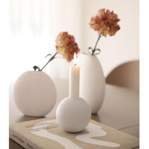 COOEE Design / Drevený svietnik Ball White 10cm