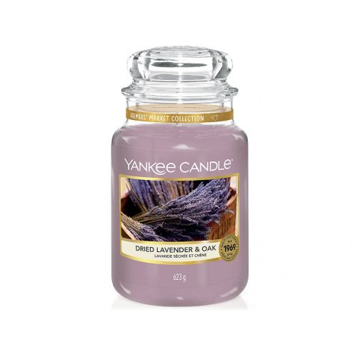 Yankee Candle / Sviečka Yankee Candle 623g - Dried Lavender & Oak