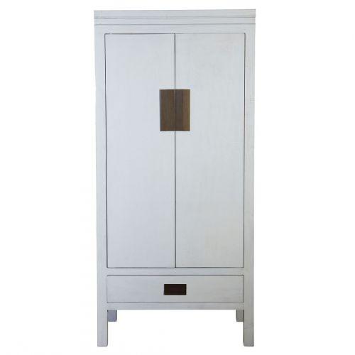 House Doctor / Dizajnová drevená skriňa Simple Light grey