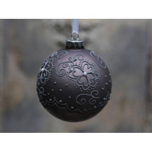 Chic Antique / Vánoční baňka Matte pattern Antique mocca